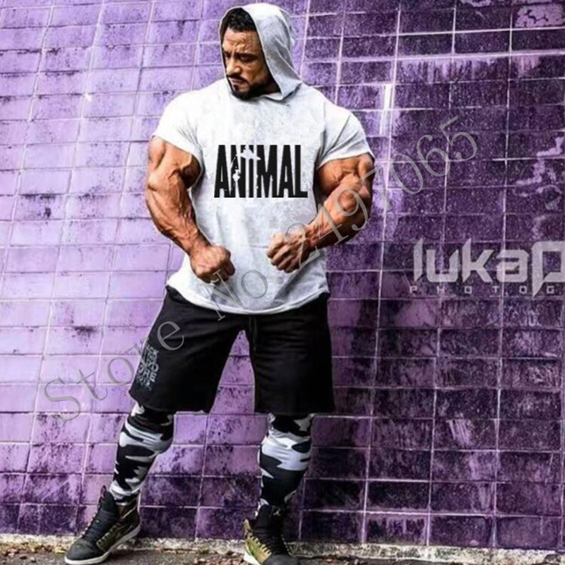 Animal Gyms Clothing Workout loose Sweatshirts Men Hooded Suits Tracksuit Sportswear Cotton Sporting Mens Bodybuilding Hoodies
