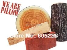 Free Shipping 1Piece high-elastic core simulation Brick Pillow / Tree Stump Wood Pillow / Green Log Pillow / Batten Pillow