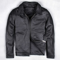Free shipping ems brand clothing men cow leather jackets men s genuine leather biker jacket motorcycle.jpg 200x200
