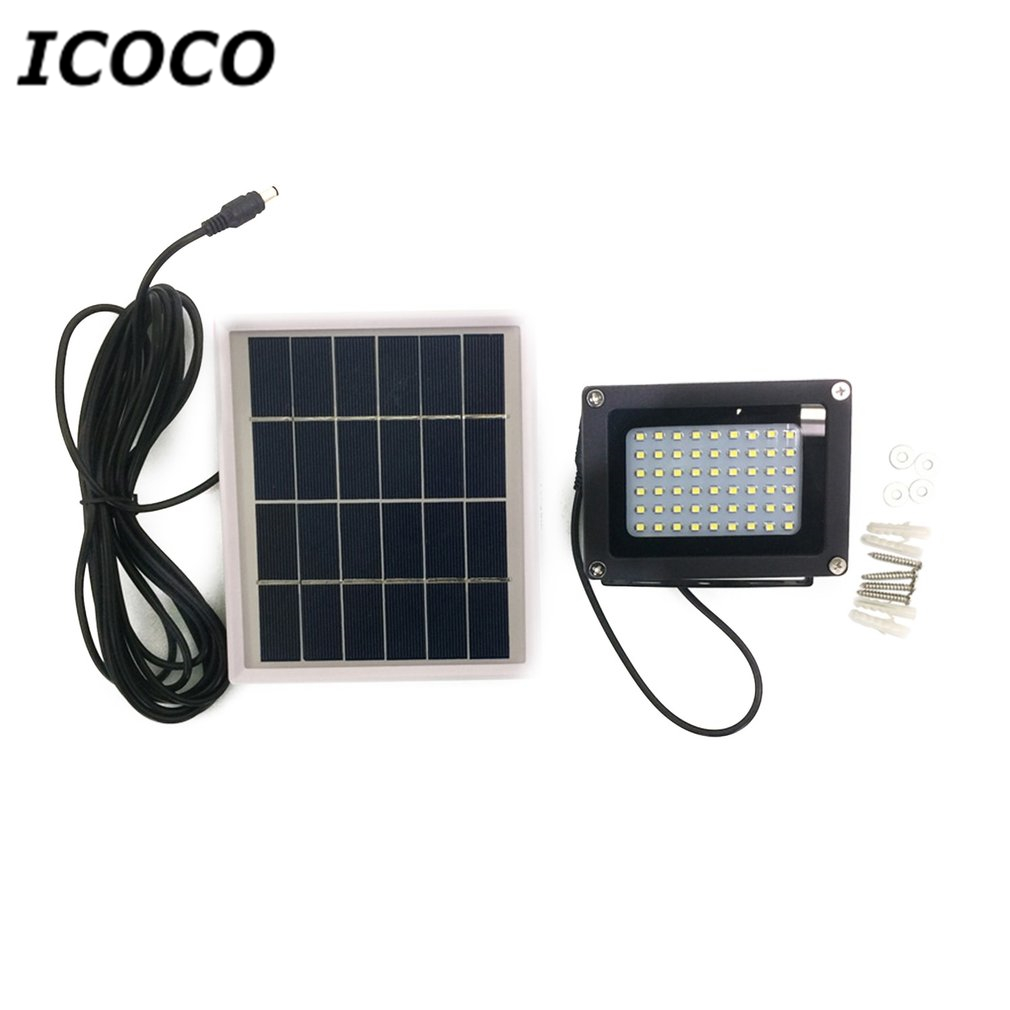 ICOCO 54 LEDs Solar Powered Light Control Night Light Flood Light Outdoor Emergency Lamp for Home Garden Lawn Pool Pathway Sale