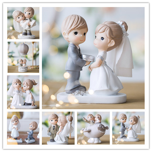 Mixed Style New Wedding Cake Topper Figurines Bride and Groom Cake Topper Cake Decorating Engagement Wedding