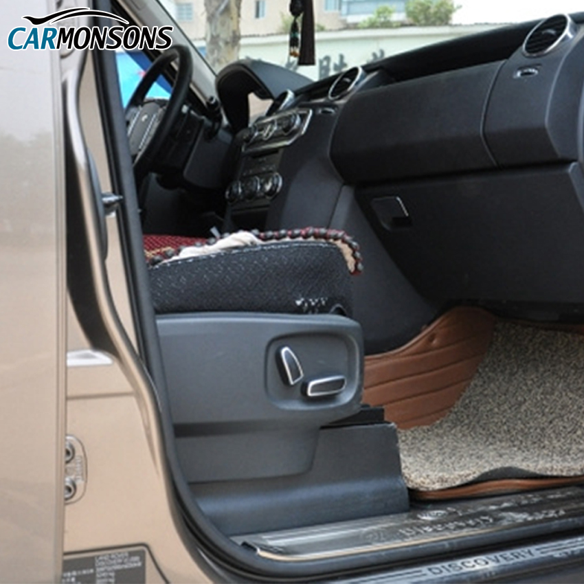Carmonsons 시트 버튼 조정 ABS 크롬 트림 액세서리 랜드 - 자동차 인테리어 용 액세서리 - 사진 5