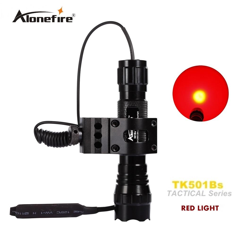 Tactical Flashlight 501B led Red light Hunting Torch Spotlight Shotgun lighting +gun mount+Remote switch