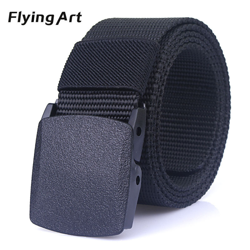 Automatic nylon belt buckle High quality military fans tactical canvas belt For man and women Hot brand belt 110 to 140cm