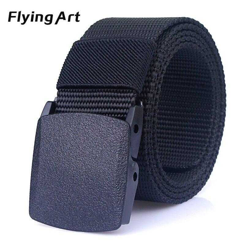 Automatische nylon gürtelschnalle hochwertigen militärischen fans tactical leinwand gürtel Für mann und frauen Heiße marke gürtel 110 zu 140 cm