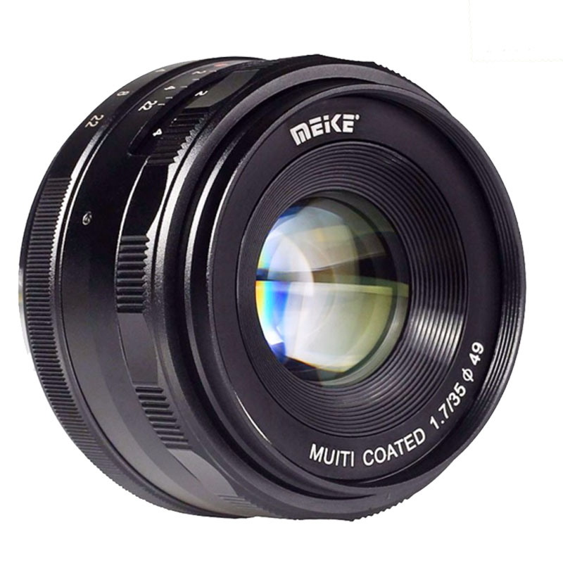 Meike MK-E-35-1.7 35mm f1.7 Manual Focus lens APS-C For Sony E Mount cameras NEX-5 NEX-7 A6000 A3500 A7S A5100 A7 A7R A7S II etc qhy5l ii c imager guider cameras with free a 8mm cctv lens