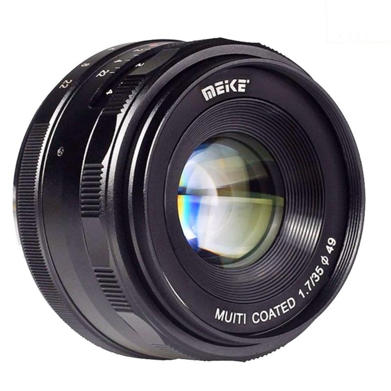 Meike MK-E-35-1.7 35mm f1.7 Mise Au Point Manuelle objectif APS-C Pour Sony E Mont caméras NEX-5 NEX-7 A6000 A3500 A7S A5100 A7 A7R A7S II etc