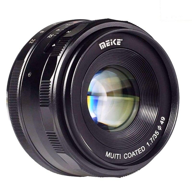 Meike MK-E-35-1.7 35mm f1.7 objetivo de enfoque manual APS-C para cámaras Sony e Mount NEX-5 NEX-7 A6000 A3500 A7S A5100 a7 A7R A7S II etc
