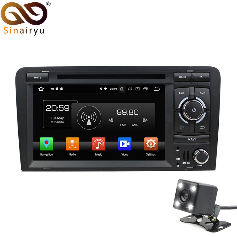 Octa Core 4GB RAM Android 8.0 Car DVD Radio Player For AUDI A3 2002-2011 S3 RS3 With WiFi Bluetooth GPS Navigation Stereo