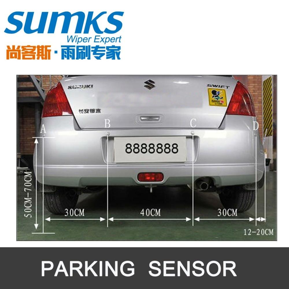 Summerparkeringshjälp med 4 sensorer och LED-display Omvänd - Bilelektronik - Foto 5