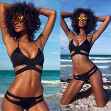 Summer Women Push Up Padded Bra Bandage Bikini Swimsuit Triangle Beach Wear Bathingsuit Sexy Hot Bikini