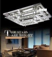Moderne rectangulaire LED De Luxe lampBedroom lampe Hall éclairage à la maison En Cristal Lampes de Plafond lampes de lumière de Haute qualité