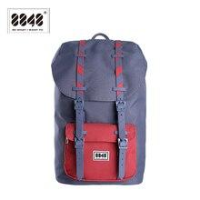 Nouveau 8848 marque sacs à dos pour voyage hommes imperméable Oxford Polyester matériel unisexe femmes hommes sacs à dos retour doux 111 006 011