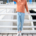 Venta caliente de Alta Calidad de Algodón de Mezclilla Skinny Jeans De Maternidad Suelta Costuras de Contraste Bolsillos Casual Jean Pantalones Para Mujeres Embarazadas