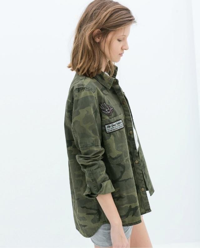 nuevo producto cad33 d4fe2 € 15.59 |Moda mujer casual blusa mujer militar camisetas femeninas  camuflaje marca invierno Camisa vaquera-in Blusas y camisas from Ropa de  mujer on ...