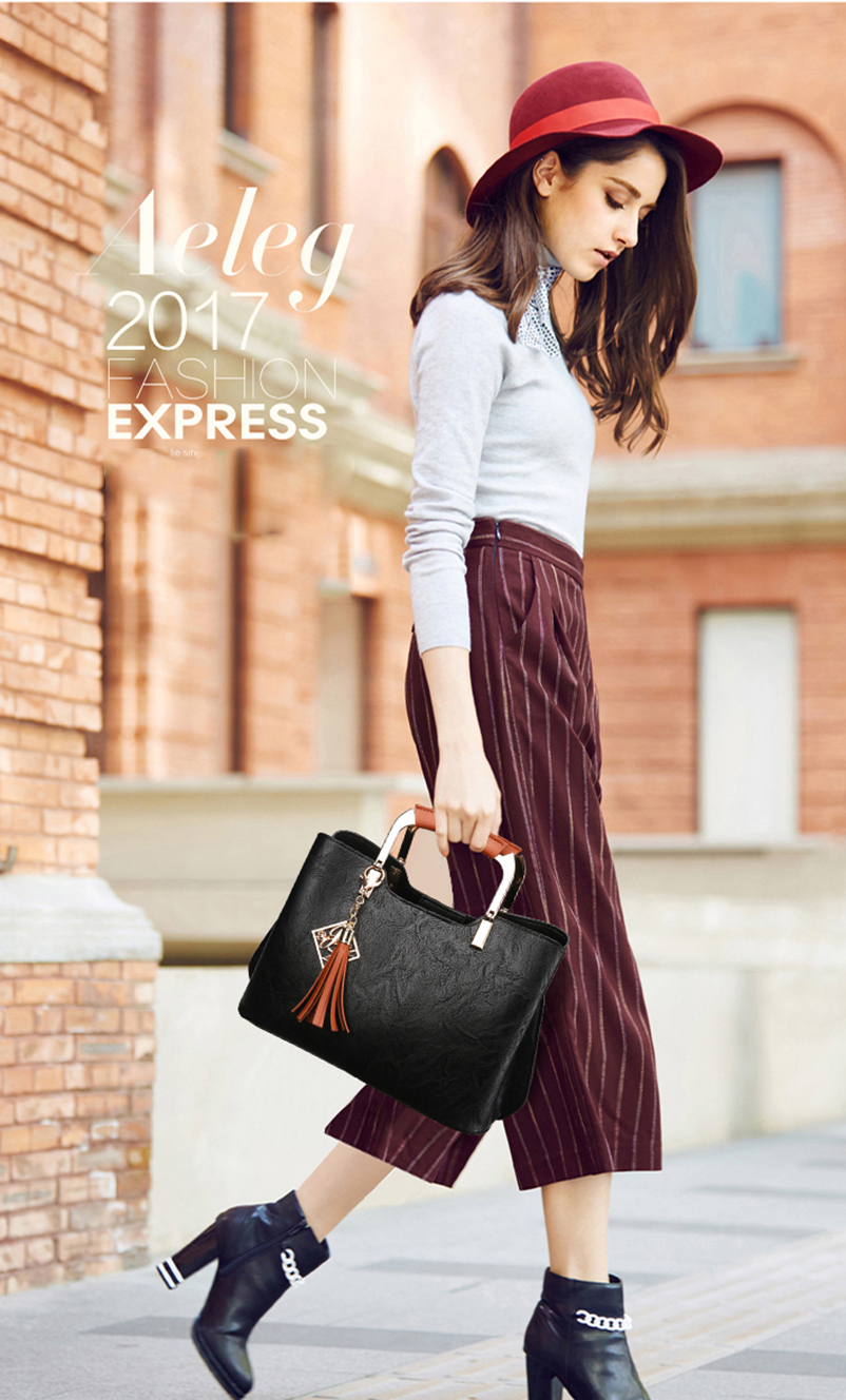 Nevenka Brand Design Women Luxury Handbags Female Tassel Sequined Messenger Bag Quality Leather Tote Solid Zipper Evening Bags04