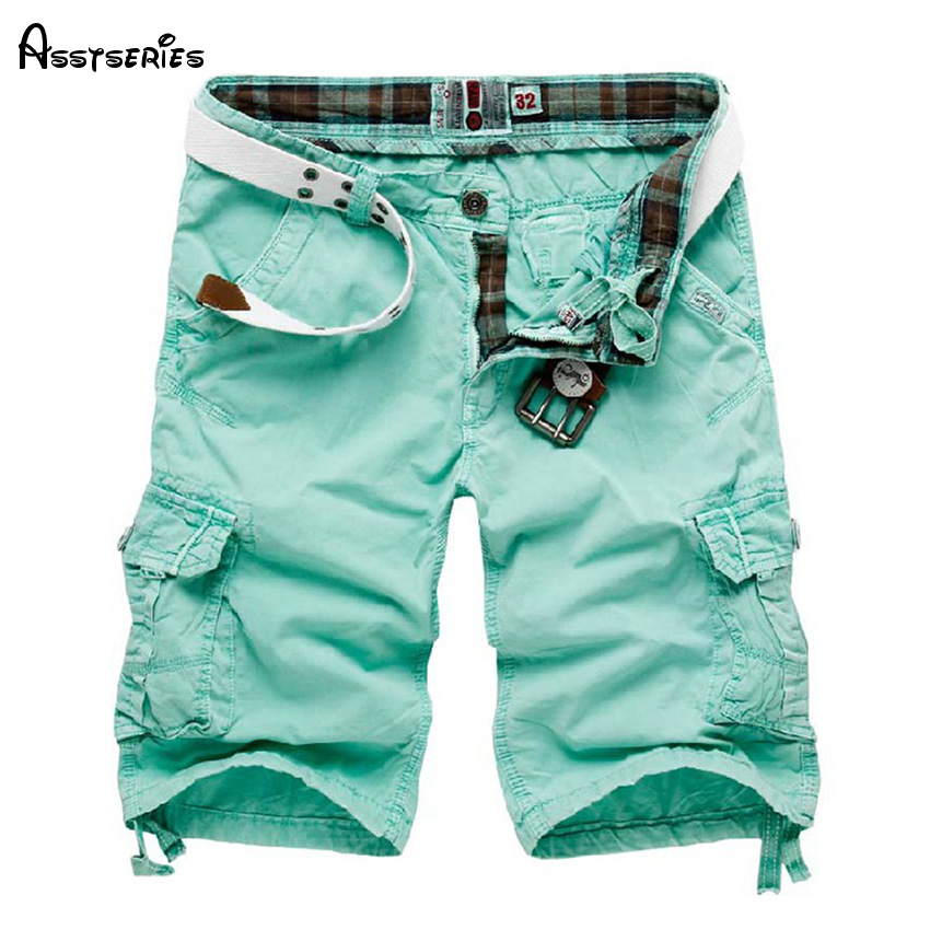 2018 New Arrived Men Loose Cargo Shorts Cool Summer Short Pants Hot Sale Cotton Homme Cargo Shorts D43