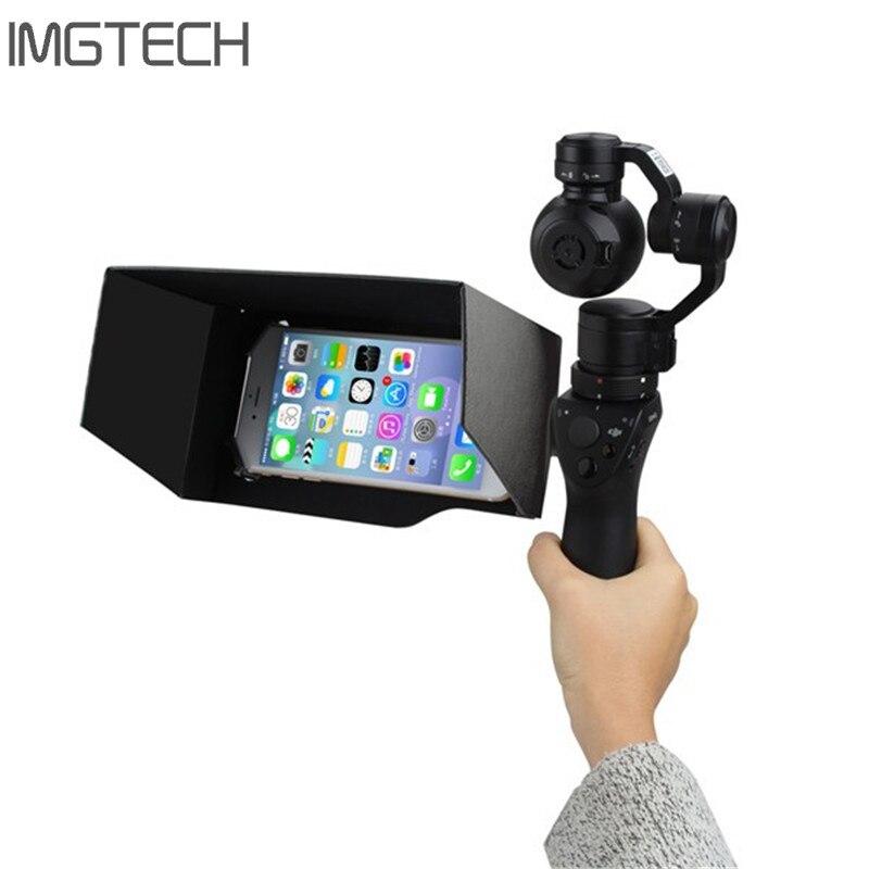 DJI Осмо 4 К Камера 3 оси ручной карданный смартфон Sunhood/складной капюшон 5,5 дюймов от солнца для осмо аксессуары