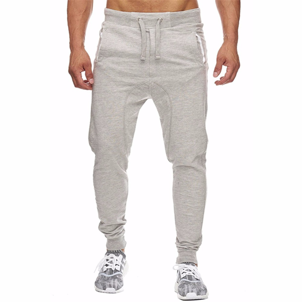 2018 Cotton Joggers Pants Men Streetwear Sweatpants Fitness Bodybuilding Gyms Pants For Runners Workout Skinny Sweat Trousers