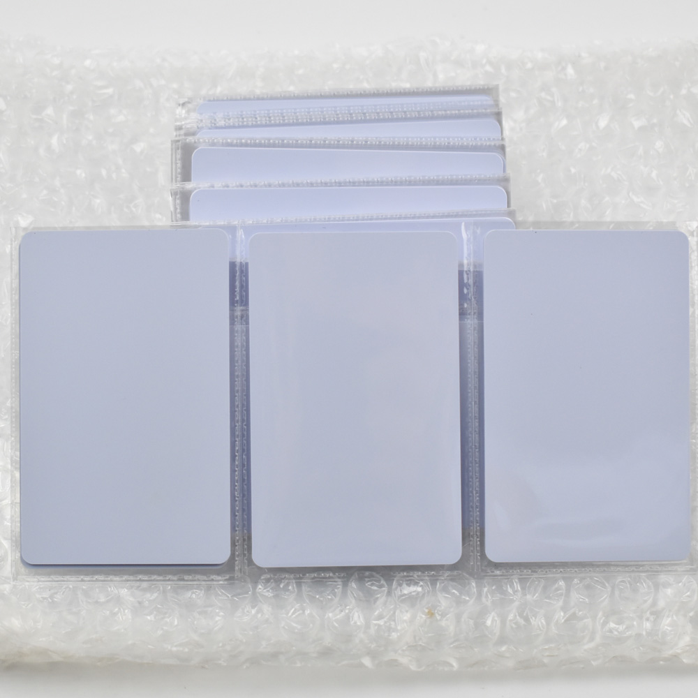 50pcs/lot nfc 1k S50 Blank card Thin pvc Card RFID 13.56MHz ISO14443A IC Smart Card Fudan Chips Waterproof 100pcs lot non contact 13 56mhz blank smart rfid pvc ic card 1024 byte eeprom iso14443a