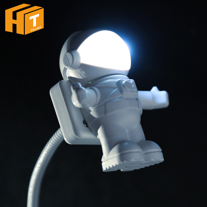 USB LED Night Light Astronaut Spaceman Batman EVEA Adjustable Carton Nightlights For Computer PC Lamp Desk Light