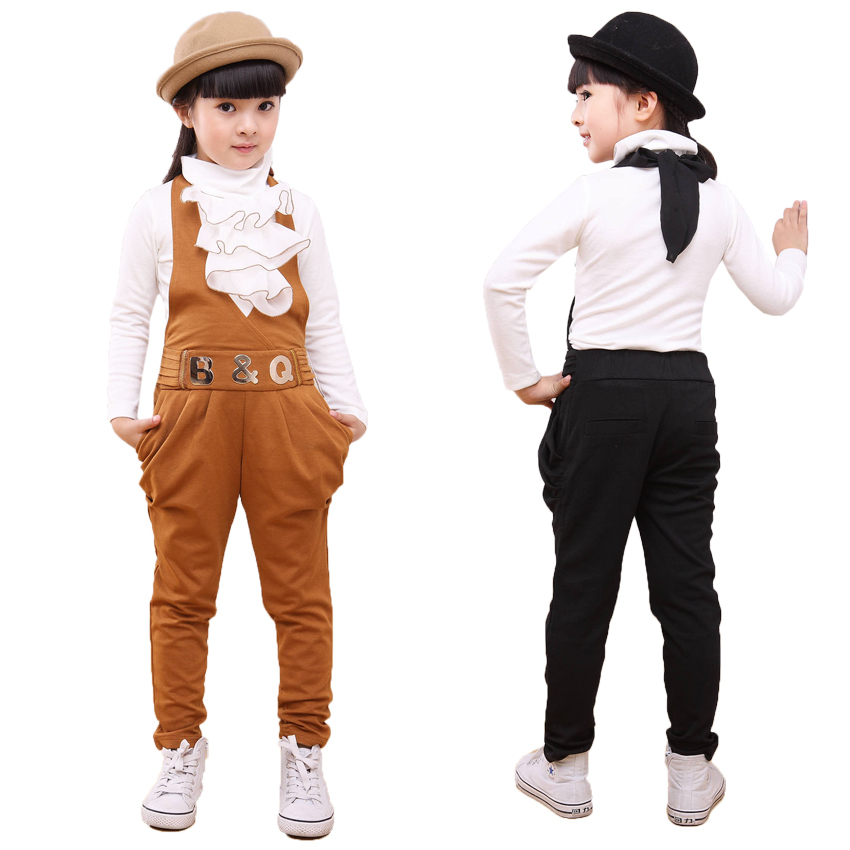 Kids Clothes Girls Clothing Sets Kids Harem Pants & Long Sleeve T-Shirt Cotton Casual Girls Clothes  New 2017 Spring Autumn 2016 spring autumn cotton fashion boys clothes 3pcs children clothing sets long sleeve t shirt vest casual pants outfits b235
