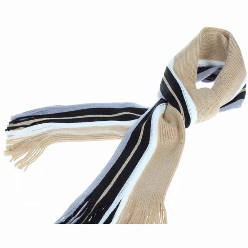 Color Striped Winter Scarf | Men's Scarves | Up to 60% Off Now