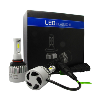 2x Car LED 9005 HB3 Headlight Conversion Kit Bulbs 6000K 8000LM Plug Play Auto Fog Lamps Cooling Fan S2 Series image