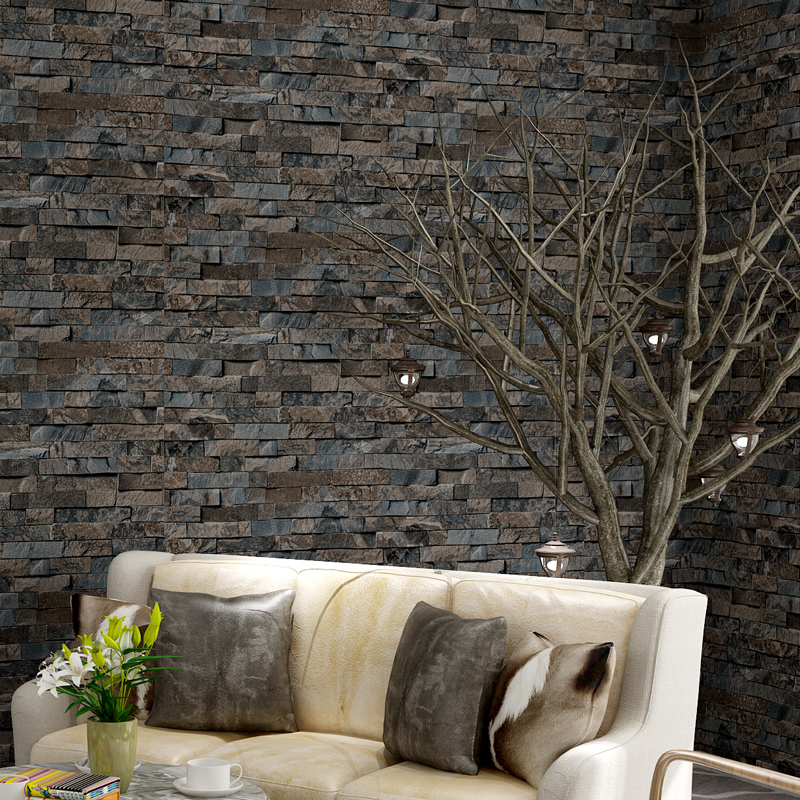 3d modern brick wallpaper for living room vintage brick for 3d stone wallpaper for living room