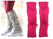 Модные взрывы осенне-зимних маленьких детских детских бантиков с носками-носками Вязаные шерстяные