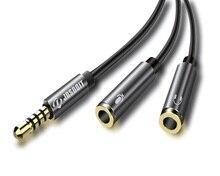 3.5mm de Áudio Splitter Cabo 3.5mm Macho para 2 Porta AUX Cabo de 3.5mm Mic Feminino Y Splitter Headset adaptador Splitter para o iphone Speaker