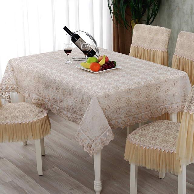 Seethrough Transparent Polyester Party Tablecloth Sunflower Printed Fashion  Pastoral Style Table Cover