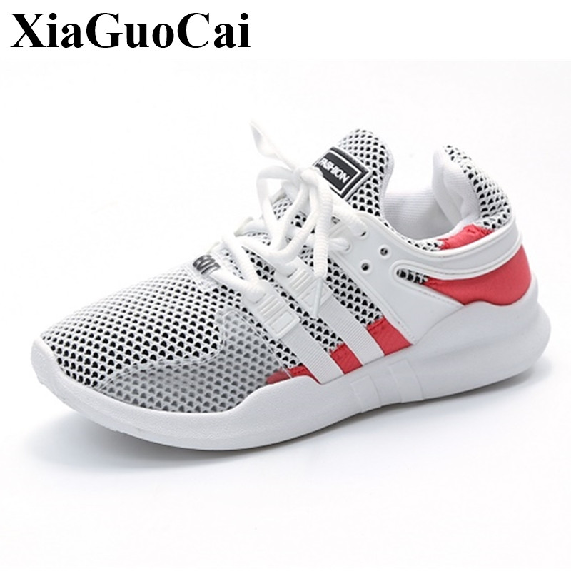 Summer&autumn Casual Shoes Women Hollow Mesh Breathable Lace-up Flats Shoes New Fashion All-match Students Shoes H370 35