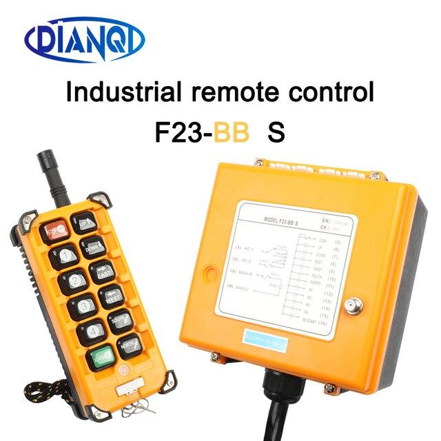 Industriële Draadloze Radio Afstandsbediening Schakelaar 1 Ontvanger + 1 Zender Speed Control Hoist Kraanbesturing Lift Crane F23 BB