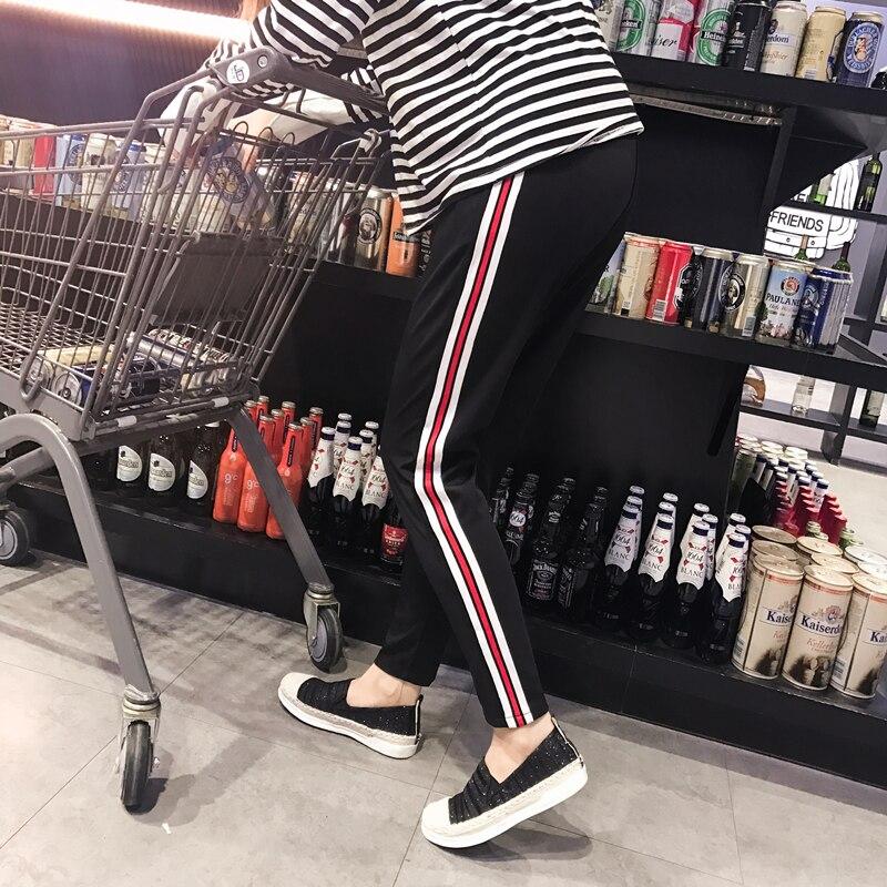 Donne Harajuku Sciolto Harem Pants A Righe Elastico In Vita Lato Hiphop Kpop Pantaloni Sportivi Coreano Più Il Formato Giapponese Pantalones Mujeres
