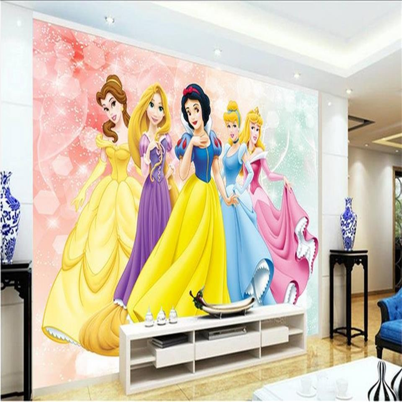 Buy beibehang room wallpaper custom mural for Disney princess wall mural tesco
