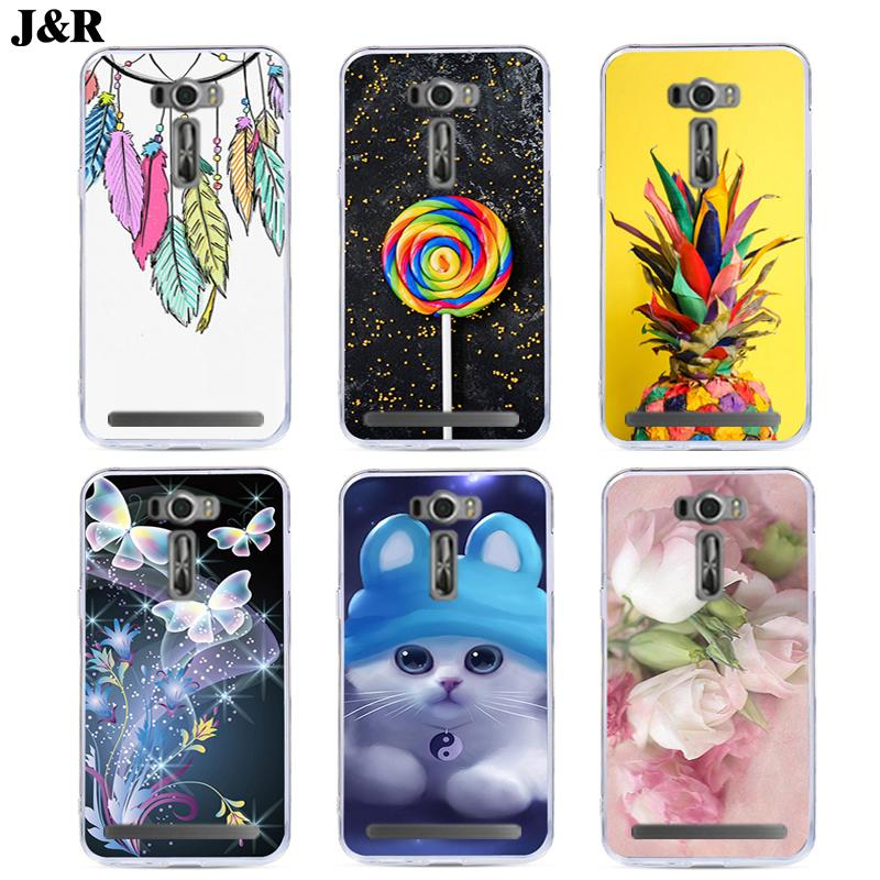 J&R Fashion Phone Case For Asus ZenFone 2 Laser ZE550KL <font><b>ZE</b></font> 550KL <font><b>550</b></font> ZE550 <font><b>KL</b></font>/ASUS_Z00LD Silicone Cartoon Animals Back Cover image