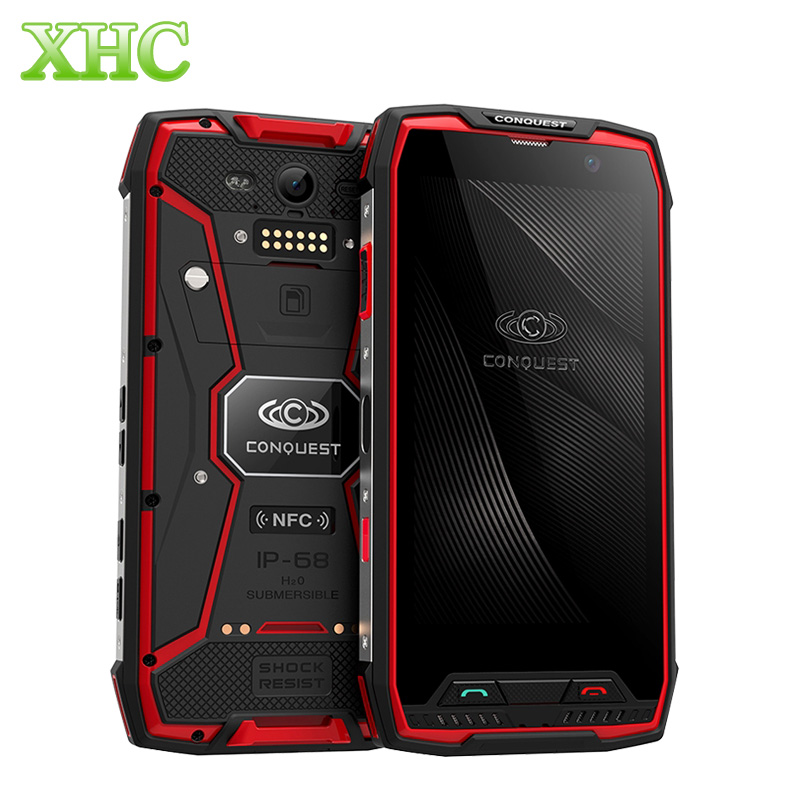 4G Conquest S11 6GB 128GB <font><b>7000mAh</b></font> IP68 <font><b>Smartphones</b></font> 5.0'' Android 7.0 MTK6757 Octa Core Dual SIM 1920*1080 NFC OTG Rugged Phones image