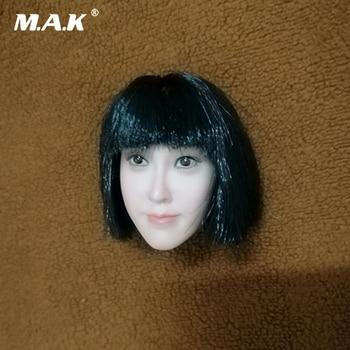 1/6 Scale Female Accessory Asian Girl Qi Liuhai Big Face Head Sculpt for 12'' Pale Female Figure Body