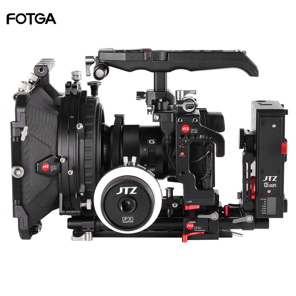 JTZ DP30 Camera Cage Baseplate Matte Box Follow Focus Rig KIT For SONY A9 title=