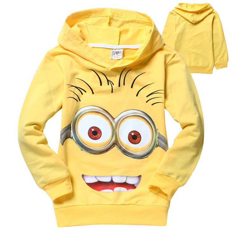 Minions boys clothes girls t shirts for kids clothing toddler in children Spring hoodies costume sweatshirts