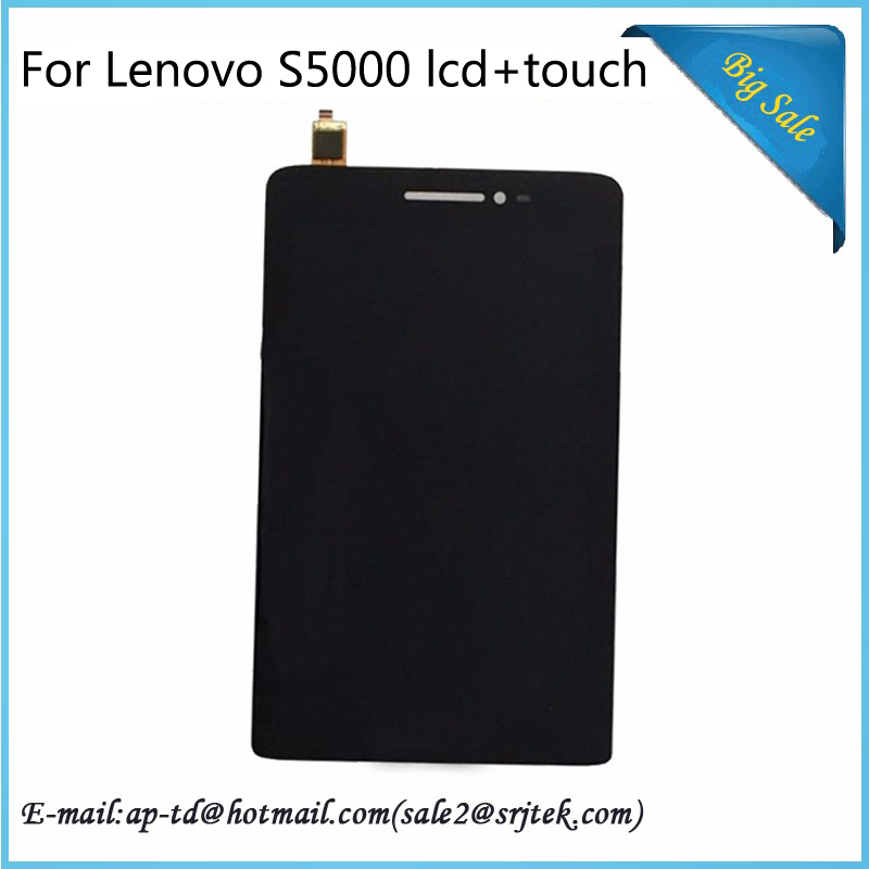 Srjtek For Lenovo IdeaTab S5000 LCD Display Touch Screen Digitizer Assembly Replacement Parts  top quality new black white gold replacement lcd display touch digitizer screen assembly for lenovo k6 phone parts