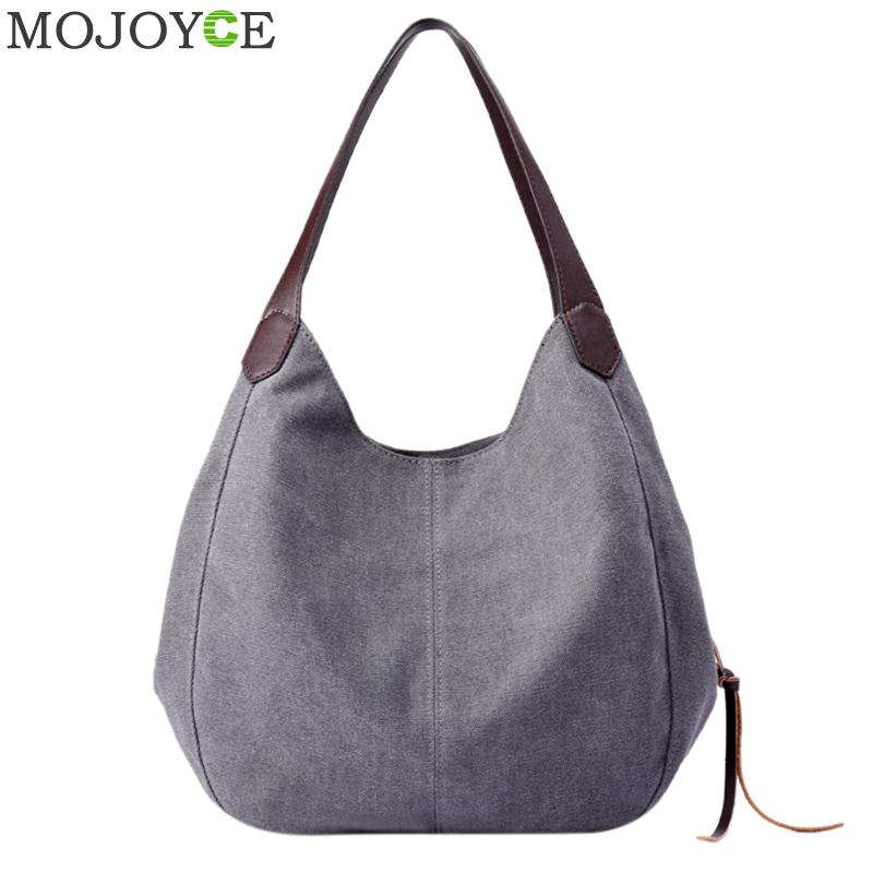 Vintage Women Canvas Shoulder Bag Hand Bags Ladies Casual Handbag Totes Hobos Sling Shoulder Bags Bolsas Feminina 2018 Handbag toddlers girls dots deer pleated cotton dress long sleeve dresses page 10