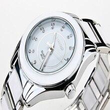 2016 Dames Montre Vintage en céramique diamant montres de luxe marque femmes robe montres quartz casual complet acier hommes montres de sport