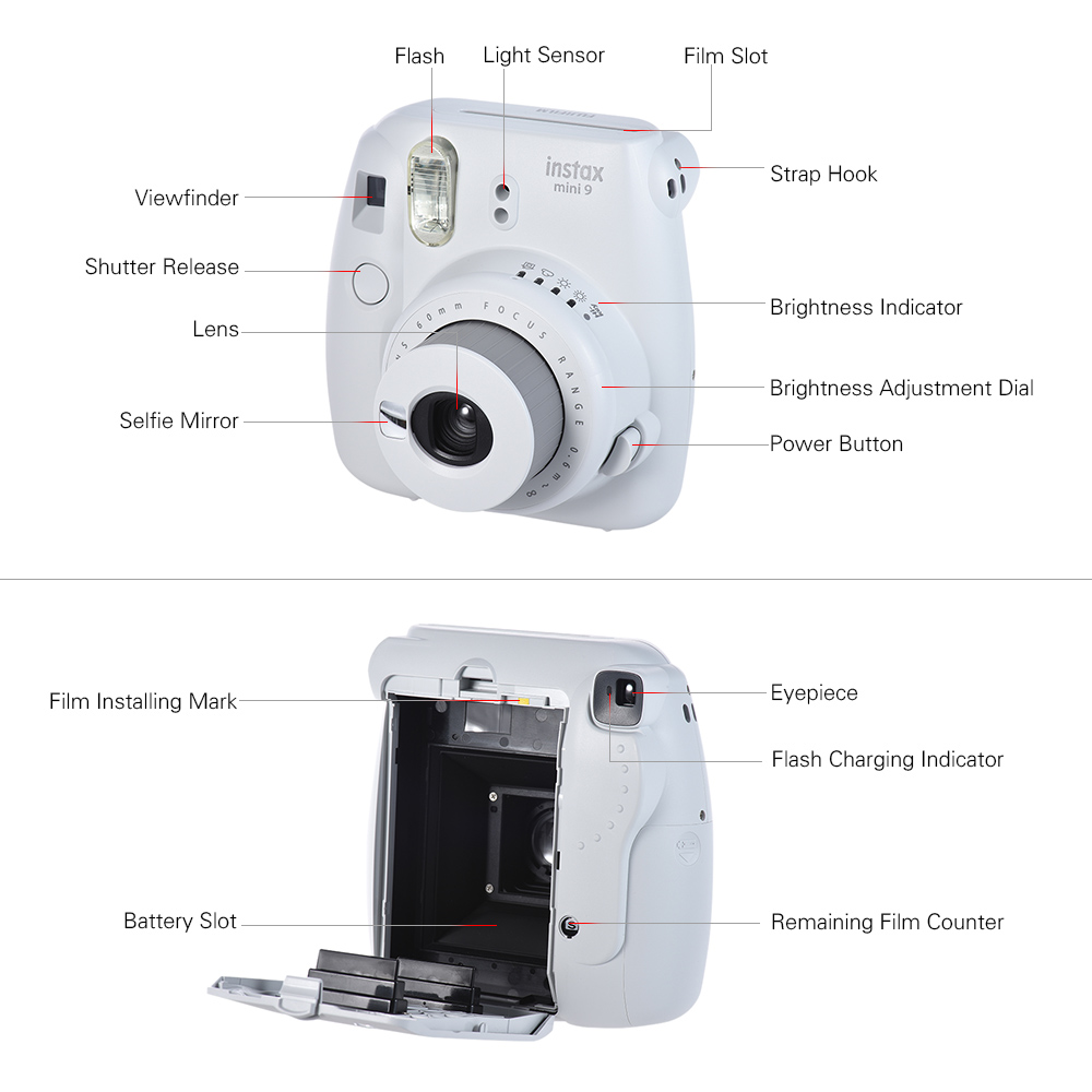 Mini Instant Camera with 13 in 1 Video Kit Case