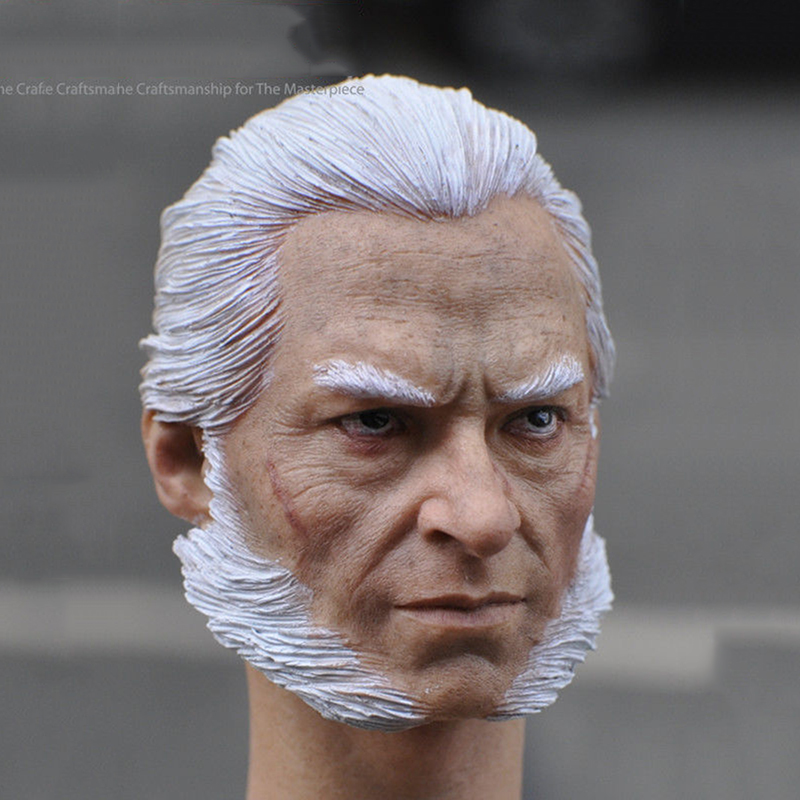 White Hair Old Version 1/6 Wolverine Logan Head Sculpt For 12 Action Figure Model Gifts Toys Collections 1 6 male head sculpt old logan head carving for 12 muscular body figure collections