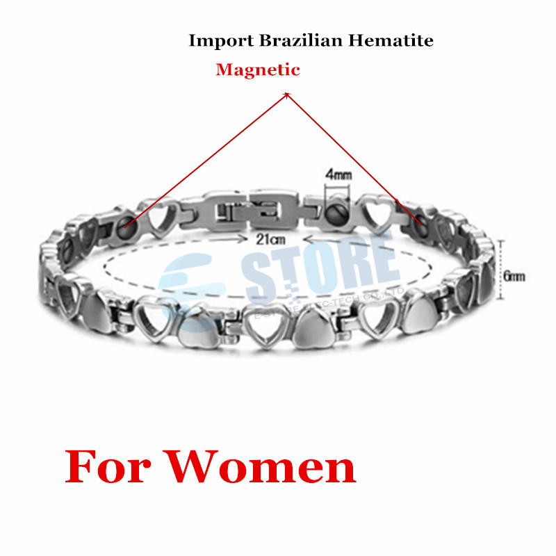 Lover's Bracelets Lover Heart Design 316L Stainless Steel Jewelry Bangles With Magnetic Energy Balls Fashion Accessories-in Hologram Bracelets from Jewelry & Accessories    3