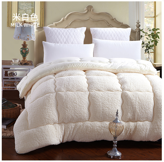 b1dc54eb878 100% Fiber White Brown winter comforter quilt blanket duvet filling with cotton  cover twin queen king size DHL free shipping