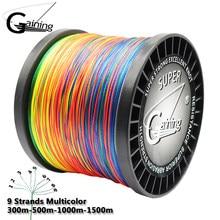 Zdobycie 9 nici 300m 500m 1000m 1500m oplot drut Super Multicolor polietylenowa żyłka wędkarska pleciona mocna linka wędkarska 20LB-200LB