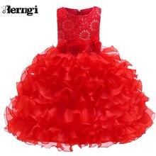 Berngi/Детские платья-пачки без рукавов для девочек; бальное платье; платье принцессы для выпускного вечера; платье подружки невесты на свадьбу; детское платье для первого причастия